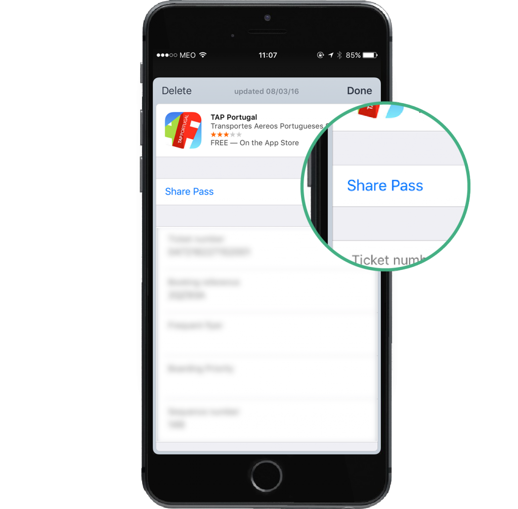 Apple Wallet News with iOS 9_Share Pass